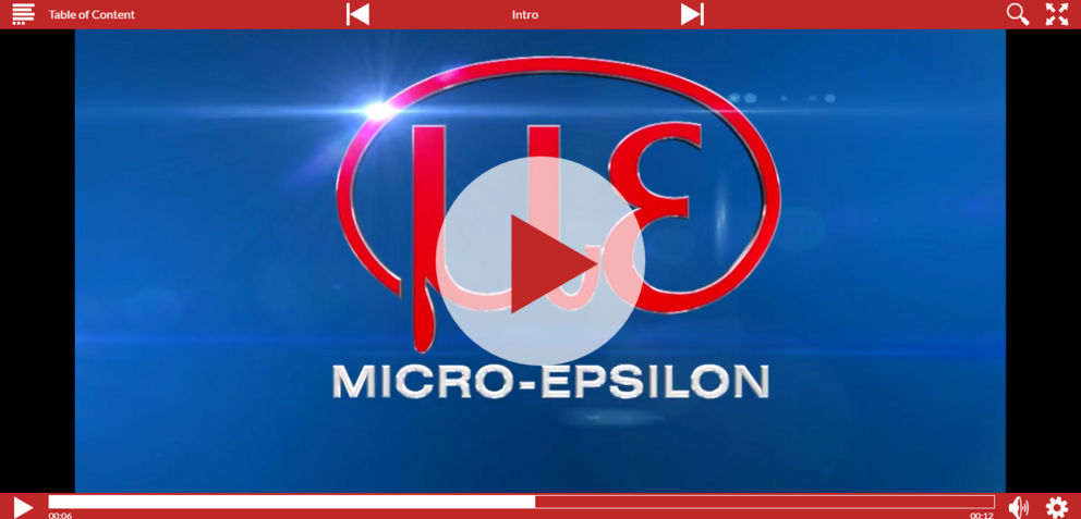 Screenshot Video Micro-Epsilon